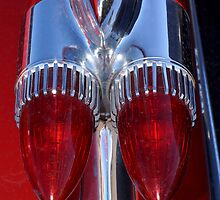 Red Cadillac Tail Lights by wayneyoungphoto