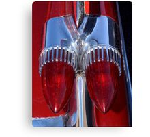 Red Cadillac Tail Lights Canvas Print