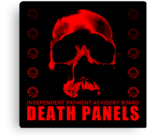 Death Panels Canvas Print