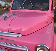 Pink Dodge Delivery Van by wayneyoungphoto