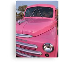 Pink Dodge Delivery Van Canvas Print