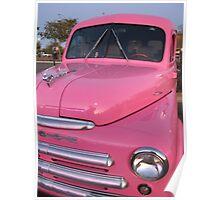 Pink Dodge Delivery Van Poster