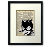 Dictionary Art Catwoman Framed Print