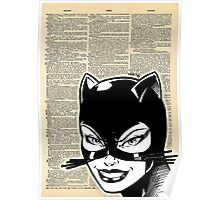 Dictionary Art Catwoman Poster