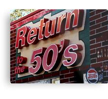 Back to the 50s Metal Print