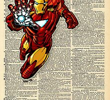 Dictionary Art Ironman by House Of Wonderland
