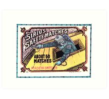 Diving in matchbox Art Print
