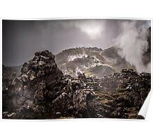 The Lava Fields of Landmannalaugar Poster