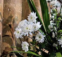 Flowers At St Mary,s Church Bridport, Dorset UK  by lynn carter