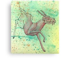 The Magical Vanishing Deer Canvas Print