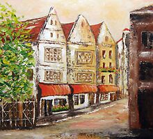 Street in Delft by Halina Plewak