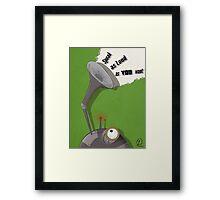 Lovely Robot Framed Print