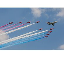 A 5 Sqn Sentinel leads the Red Arrows Photographic Print