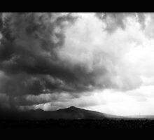 ©HCS Cumulonimbus Precipitatus Monochrome by OmarHernandez