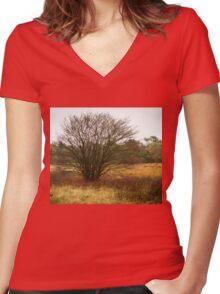 Heathland autumn symphony Women's Fitted V-Neck T-Shirt