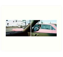 Long Pink Cadillac Art Print