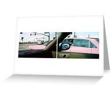 Long Pink Cadillac Greeting Card