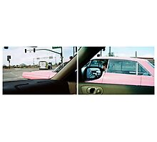 Long Pink Cadillac Photographic Print