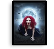 Blood Lust Vampire Lady Canvas Print
