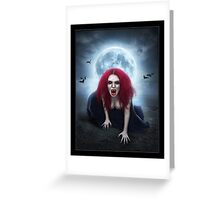 Blood Lust Vampire Lady Greeting Card