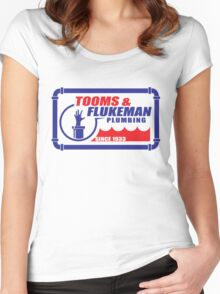 Tooms and Flukeman Plumbing Women's Fitted Scoop T-Shirt