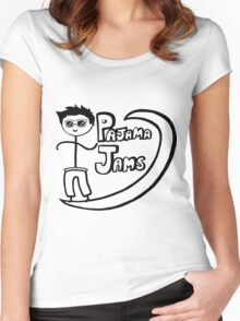 Pajama Jams Logo #1 - Eugene Style, Black Version Women's Fitted Scoop T-Shirt