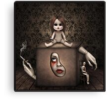 Girl in the Box. Canvas Print