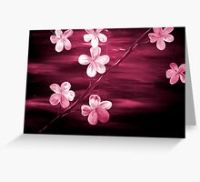 Cherry Blossom Maroon  Greeting Card