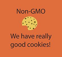 NonGMO We have Really Good Cookies w/ a Bite- iPad Case by Lori Lyons