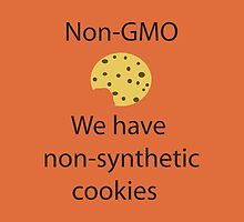 NonGMO- We have Non-synthetic Cookies w/ a Bite - iPad Case by Lori Lyons