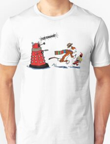 Calvin And Hobbes Dr who T-Shirt