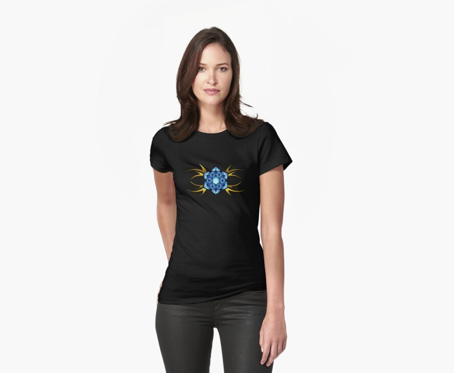 Tribal Flower T-shirt by Walter Colvin