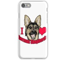 I Hart German Shepherds iPhone Case/Skin