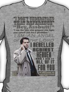 Castiel Typography T-Shirt