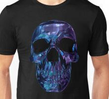 Polygon Skull - Blue / Purple Unisex T-Shirt