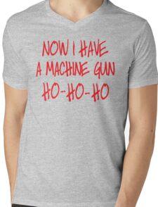 Now I have a machine Gun Die Hard Mens V-Neck T-Shirt