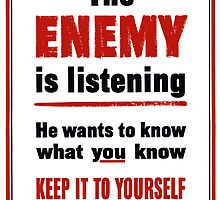 The Enemy Is Listening -- World War II by warishellstore