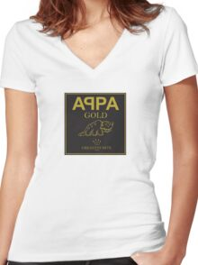 Appa Gold Women's Fitted V-Neck T-Shirt
