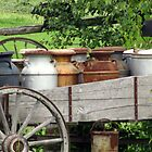 Wagon of Milk Jugs by sevenfeathers