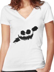 Knife Party - Haunted House Logo Women's Fitted V-Neck T-Shirt
