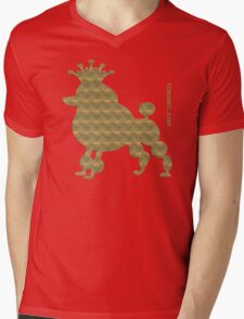 King poodle - Königspudel - dog, crown, cute, funny Mens V-Neck T-Shirt