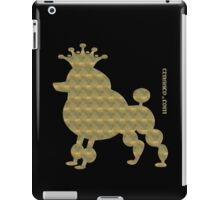 King poodle - Königspudel - dog, crown, cute, funny iPad Case/Skin