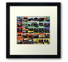 Camera Collage II Framed Print