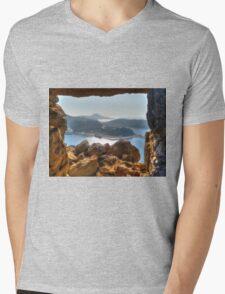 Stone Frame HDR Mens V-Neck T-Shirt