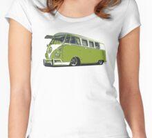 Funky VW Camper Van Women's Fitted Scoop T-Shirt