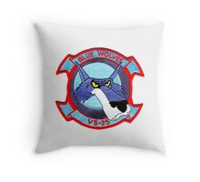 VS-35 Blue Wolves Throw Pillow