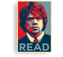 Tyrion Reads Canvas Print