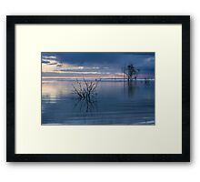 Blue Lake Menindee Framed Print