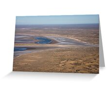 Lake Eyre, the heart of Australia Greeting Card