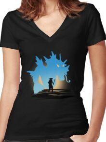Fus Ro DOS! Women's Fitted V-Neck T-Shirt